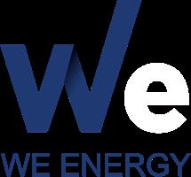 We energy logo white